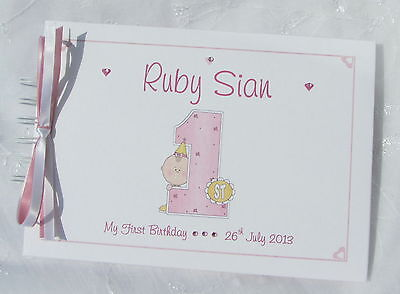 Personalised 1st First Birthday Photo Albumguest Book 1370