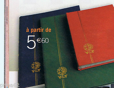 1 Classeur Pour Timbres 64 Pages Blanches Grand Format Neuf Bleu