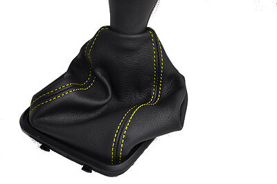 FITS MERCEDES A CLASS W169 LEATHER GEAR GAITER yellow stitc