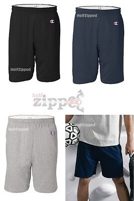"""Champion Men/'s 6/"""" Athletic Solid Cotton Gym Workout Shorts w// Drawstring 8187"""