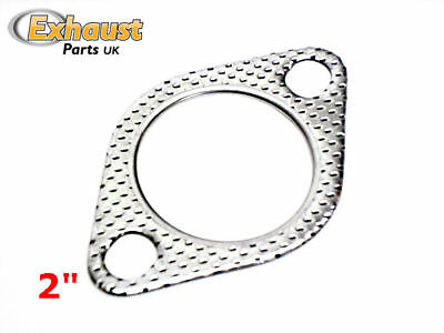 """Exhaust Gasket 2 Bolt Hole Gaskets - 2"""" -51mm NOT Conical Crush Ring"""