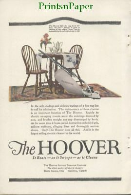 1920 Hoover Suction Sweeper Vacuum  Color Print Ad