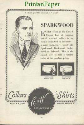 1920 Earl & Wilson Starched Collars Troy NY  Ad