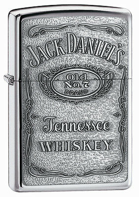 Zippo Lighter Jack Daniel's Pewter Emblem Engraved Free
