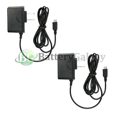2x Micro USB Battery Travel Home Wall AC Charger For Android Cell Phone