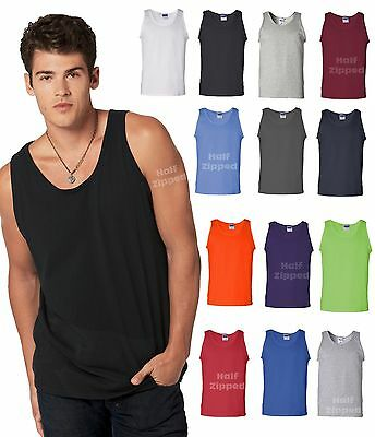 Gildan Mens Ultra Cotton Tank Top  2200 15 Colors S-3XL NEW