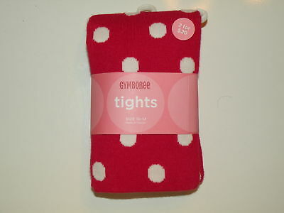 GYMBOREE VALENTINES DAY RED w/ WHITE DOT TIGHTS 6 12 24 2 3 4 5 7 8 NWT