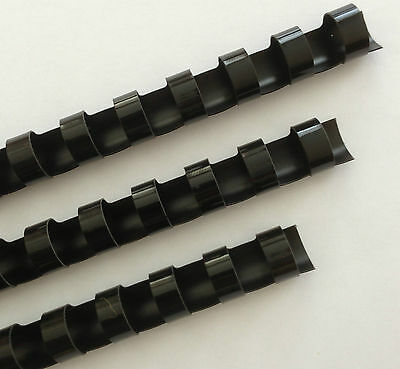 "1/2"" Plastic Binding Combs - ""BLACK"" - Set of 25"