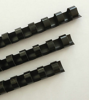 "7/8"" Plastic Binding Combs - ""BLACK"" - Set of 25"