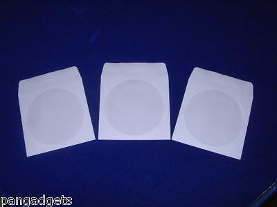 100 X Dvd Cd Paper Sleeve  Cover Case With Adhesiveflap