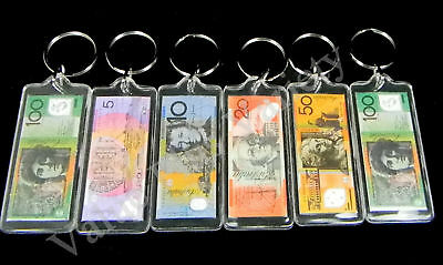 6 Australia Souvenir Key Rings Money Australian Dollar Notes