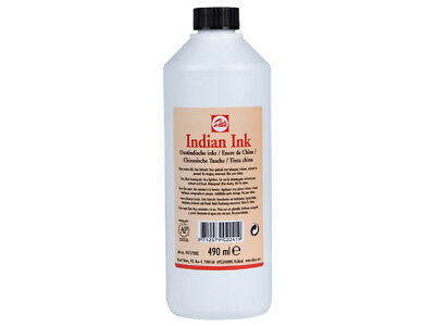 TALENS BLACK INDIAN INK - 490ml BOTTLE - FINE ART DRAWING TATTOO