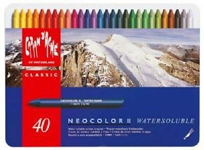 Caran D'ache Neocolor II Watersoluble 40 Colour Tin