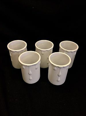 5 x New Candle drips candledrip lamp holder covers 50mm x 33mm White plastic