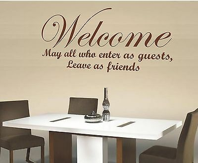 May all who enter as guests.. vinyl wall art sticker