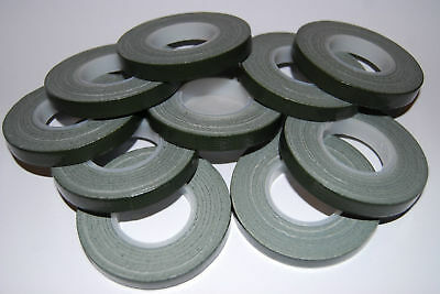 TEN x Green Florist POT tape 9mm x 10m rolls