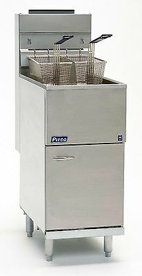 Pitco Gas Fryer Single Tank Double Basket - Model Ce35C - £ 899.00