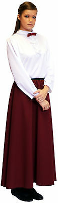 Victorian GOVERNESS Blouse & Burgundy Skirt All Ages