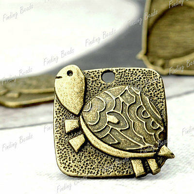 15pcs new Turtle Charms antique brass vintage TS4235-4