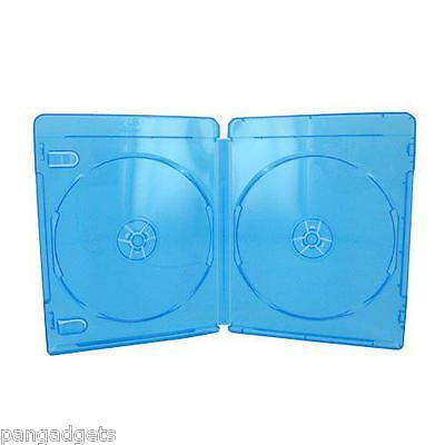 10 AMARAY  BLU RAY DOUBLE   DISC STORAGE CASES 15mm