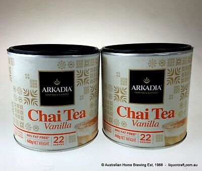 Arkadia Vanilla Chai Tea Latte 440g x 2 Cafe coffee
