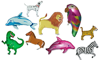 100 Assorted Animal Foil Shaped Balloons for Wholesale