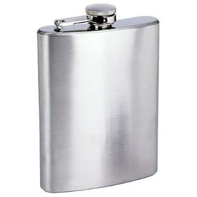 New 8oz Stainless Steel Liquor Wine Hip Flask Screw Cap US FAST FREE SHIPPING