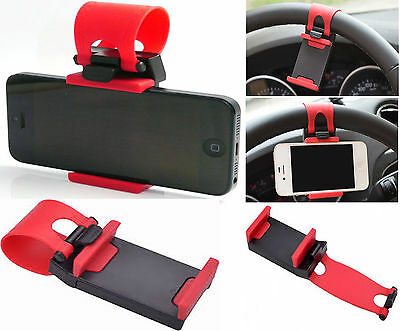 Universal Car Steering Wheel Mount Holder For iPhone 5 5G 5S SE 5C 6S XS Max XR