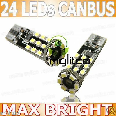 2x CANBUS LED BULB xenon white SIDELIGHT 501 W5W T10 24SMD Max Bright Upgrade