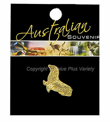Australian Souvenir Hat Pin Stick Lapel Badge Gold Plated Seal