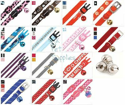 Ancol Cat & Kitten Collars – all with bell – some with safety buckles
