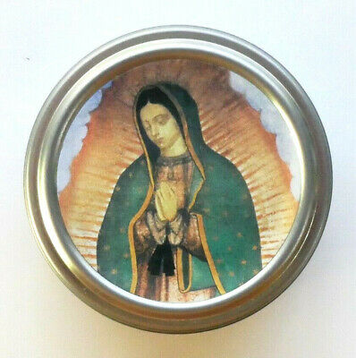 Our Lady of Guadalupe Tin Rosary Case