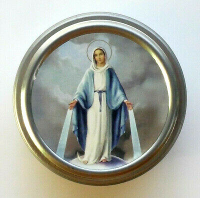 Lady of Grace (Miraculous) Tin Rosary Case