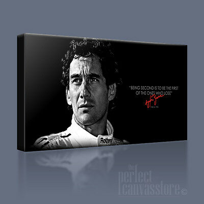 Ayrton Senna Legendary Formula 1 Icon Canvas Art & Quote