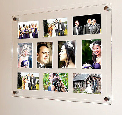 """5 x 7""""  Multi photo picture frame magnetic 7 x 5 ALL COLORS Cheshire Acrylic"""