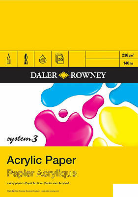 Daler Rowney System 3 Acrylic Painting Paper Pad - A2