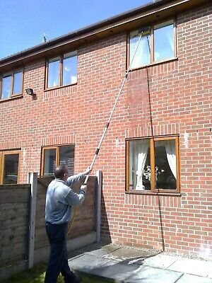12Ft 7 Inch Water Fed Telescopic Window Cleaning Pole Brush Conservatory Roof