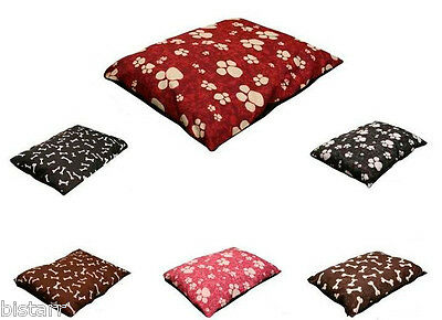 Dog Bed With Filled Cushion Inner Pillow Pet Pad Large