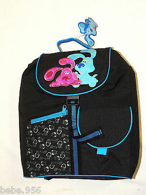 New  ~Blues Clues & Magenta ~ Large Canvas    Black  Backpack