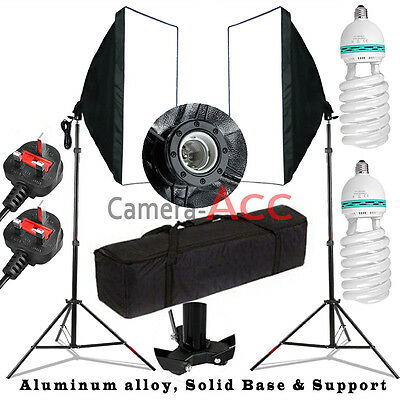 BPS 1250W Photo Studio Soft box Softbox Continuous Lighting Stand Kit Set UK CE