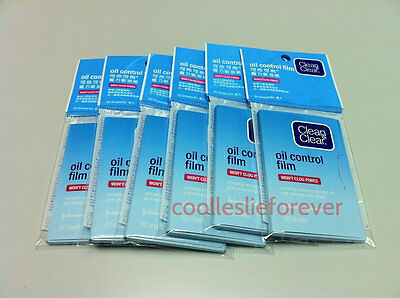 Clean and Clear Oil absorbing sheets Oil Control Film Blotting Paper x 6 packs