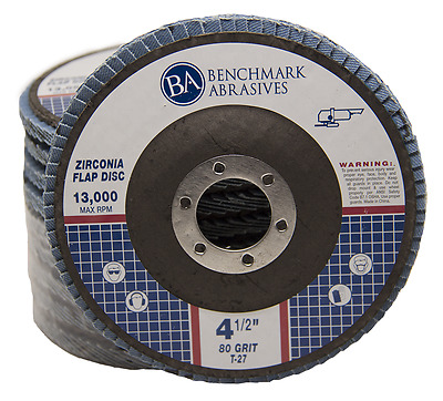"10 Pack 4.5"" x 7/8"" Professional 80 Grit Zirconia Flap Disc Grinding Wheels T27"