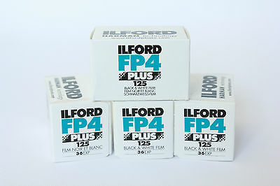 ILFORD FP4 PLUS 35mm 36 exp B+W (4 Pack) **CHEAPEST**