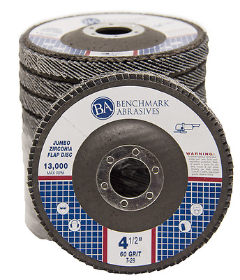 "50 Pack 4.5"" x 7/8"" Jumbo 60 Grit Zirconia Flap Disc Grinding Wheels T29"