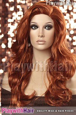 Tousled Sexy Long Wig - COLOUR CHOICES! Brown Blonde Auburn Burgundy Red