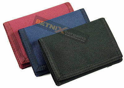 CANVAS WALLET good quality sport running 3 colours Gents Ladies Boys NEW