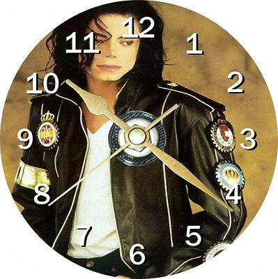 Micheal Jackson 2 Cd Clock Can be personalised
