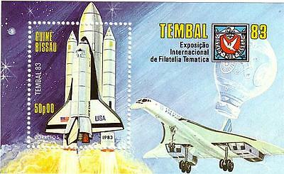 Guine Bissau 1983 USA Space Shuttle S/S MNH !