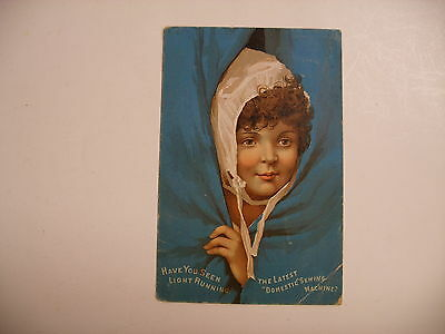 Vtg Advertising Trade Card Domestic Sewing Machine 2