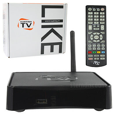 KARTINA LIKE IPTV Player + DVB-T/T2 Receiver KARTINA.TV Full HDTV Russkoe WLAN